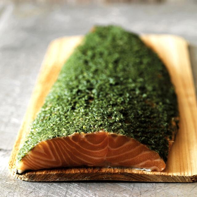Rezept von Mark Hix: Gebackener Lachs mit Honig, Senf und Dill