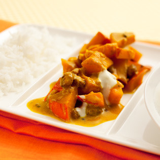 Rezept von Sebastian Copien: Indianstyle Kürbis-Rosinen-Curry