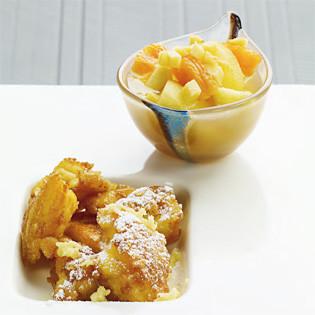 Rezept von Sohyi Kim: Kaiserschmarrn mit Ingwer-Apfel-Kompott