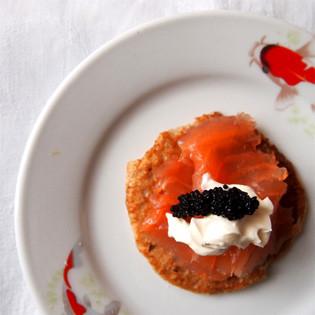 Aus Valentinas Küche: Blini mit geräuchertem Lachs