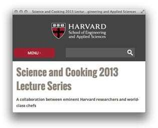 Kulinarische Videos im Web: Harvard – Science and Cooking