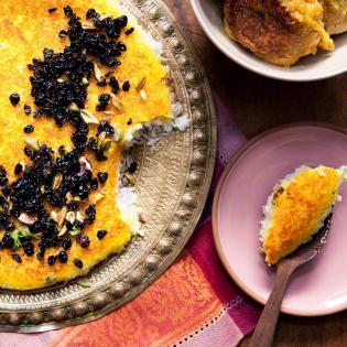Rezept von Gabi Kopp: Berberitzenreis mit Joghurtkruste & Huhn