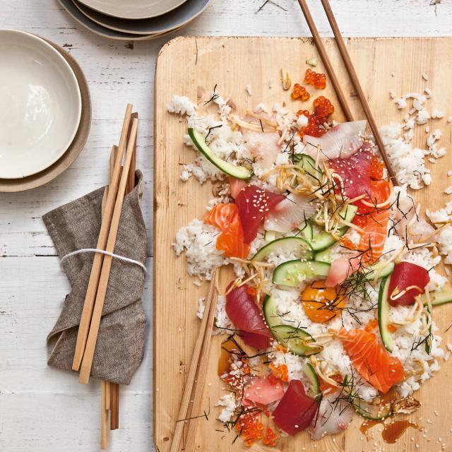 Rezept von Pete Evans: Bibimbap Sushi