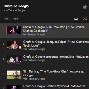 Kulinarische Videos im Web: Chefs at Google