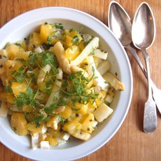 Aus Valentinas Küche: Spargelsalat mit Kerbel & Kartoffeln