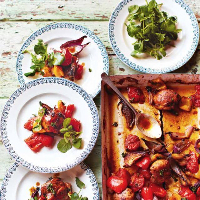 Rezept von Jamie Oliver: Ruck-Zuck-Huhn aus dem Ofen