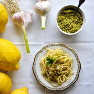 Rezept von Cettina Vicenzino: Nudeln mit Zitronensauce & Pistazien