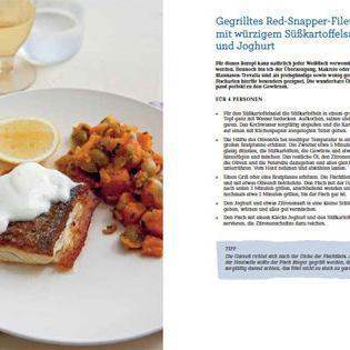 Rezept von Neil Perry: Gegrilltes Red-Snapper-Filet mit würzigem Süßkartoffelsalat