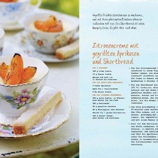 Rezept von Sarah Mayor: Zitronencreme mit gegrillten Aprikosen & Shortbread