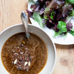 Rezept von Delphine de Montalier: Vinaigrette mit getrockneten Tomaten