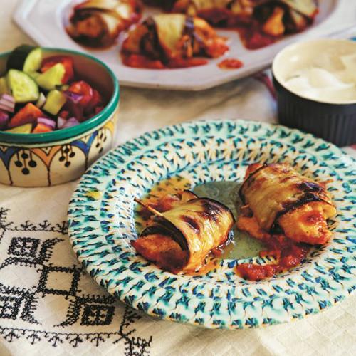 Rezept von Sally Butcher: Huhn im Auberginenmantel