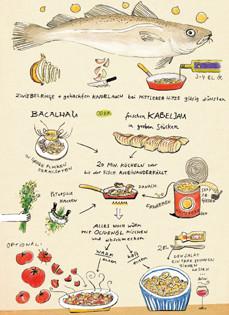 Rezept von Alexandra Klobouk & Rita Cortes Valente de Oliveira: Bacalhau mit Kichererbsen