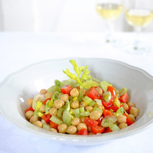 Rezept von Claudio Del Principe: Kichererbsensalat / Insalata di ceci