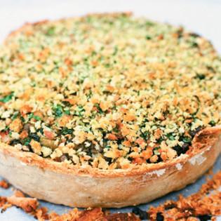Rezept von Arthur Potts Dawson: Linsen-Tarte mit Süßkartoffeln & Crème Fraîche
