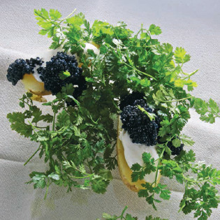 Rezept von Jürgen Dollase: Pellkartoffeln mit Rogen und Kerbel