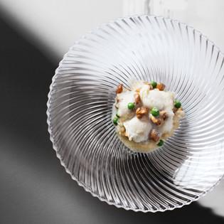 Rezept aus Tantris: Pfifferlings-Risotto mit jungen Erbsen