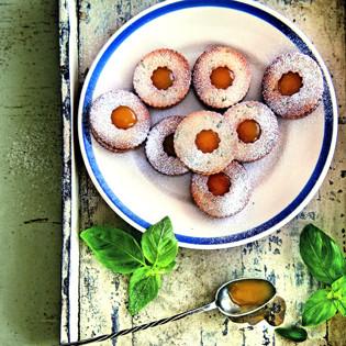 Rezept von Janneke Philippi: Basilikum-Kekse mit Lemoncurd