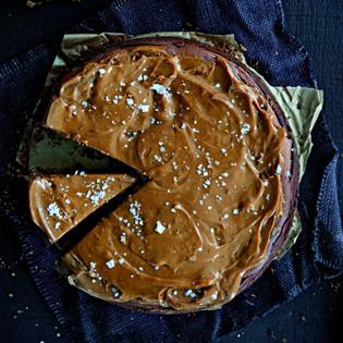 Rezept von Janneke Philippi: New York Schokoladen-Karamell-Cheesecake