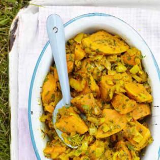 Rezept von Natasha Corrett & Vicki Edgson: Süßkartoffelcurry