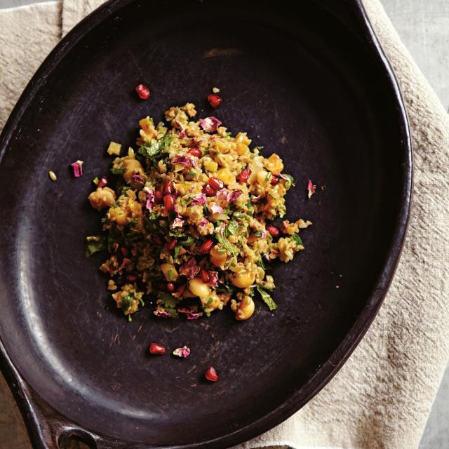 Rezept von Sally Butcher: Freekeh-Salat mit Orange & Aprikose