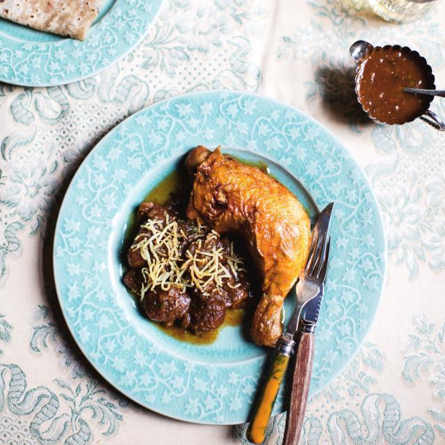 Rezept von Cyrus Todiwala: Huhn mit Aprikosen & Chapatis