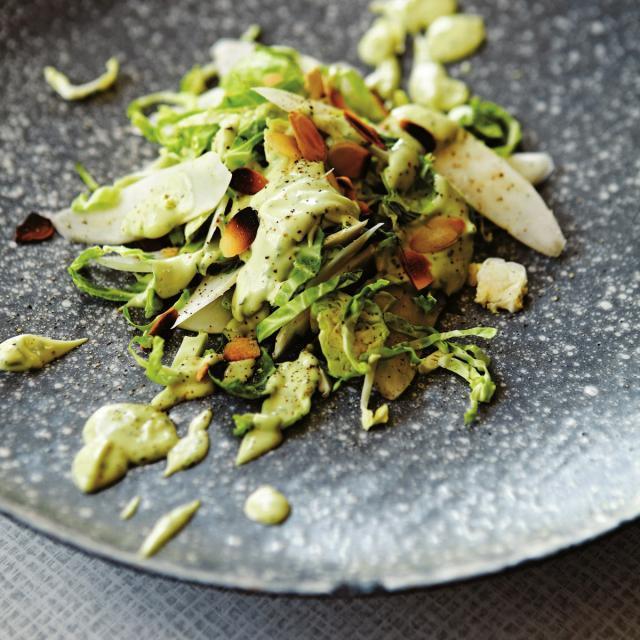 Rezept von Sally Butcher: Topinambur mit Avocado-Hollandaise