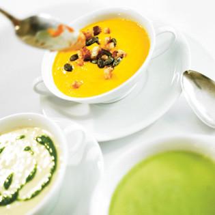 Rezept aus Kochwerkstatt: Kürbissuppe mit Kokosmilch