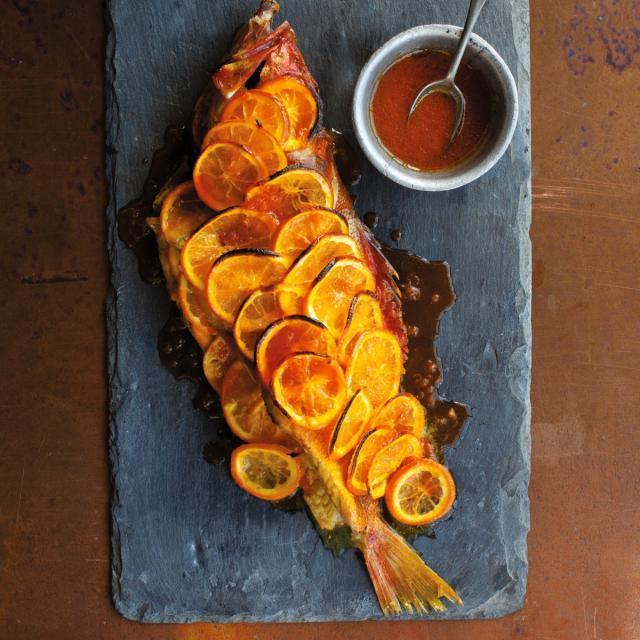 Rezept von Louisa Shafia: Fisch mit Orangen und Safran