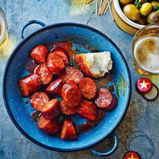 Rezept von Omar Allibhoy: Chorizo mit Apfelwein