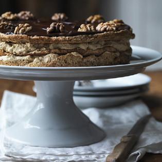 Rezept von Trine Hahnemann: Walnuss-Makronen-Torte