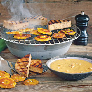 Rezept von Torsten Mertz: Tofu-Ecken an Erdnuss-Mango-Sauce