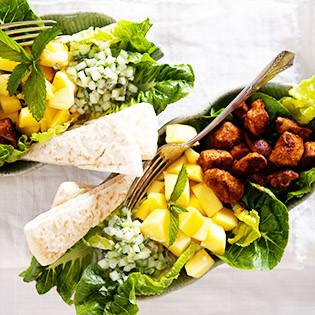Rezept von den Reith-Schwestern: Hähnchen-Mango-Salat mit Raita