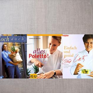 Aus der Kochbuchsammlung: Erstlinge von Linster, Poletto und Herrmann