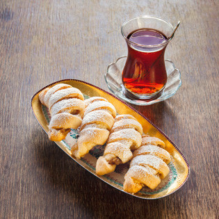 Rezept aus Türkei vegetarisch: Apfel-Zimt-Hörnchen