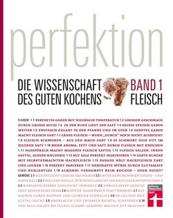 Kochbuch von Stiftung Warentest: Perfektion – Die Wissenschaft des guten Kochens. Band 1: Fleisch