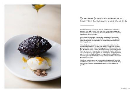 Rezept aus NOPI: Gebackene Schokoladenganache mit pikanten Haselnüssen und Orangenöl