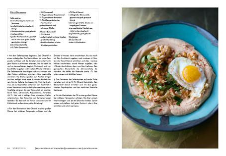 Rezept aus NOPI: Selleriepüree mit pikantem Blumenkohl und Wachteleiern