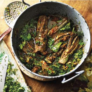 Rezept von Olia Hercules: Lammfleisch mit Koriander
