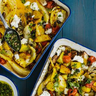 Rezept von Nicola Graimes: Ofengemüse mit Zitrone und Scamorza