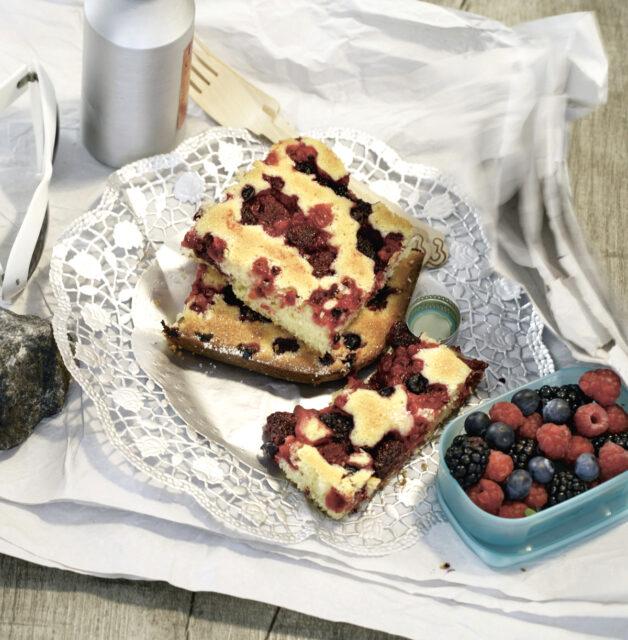 Rezept von Ilse König: Blechkuchen mit Sommerbeeren