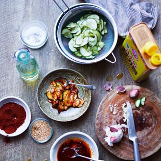 Rezept von Jordan Bourke & Rejina Pyo: Schnelles Gurken-Kimchi