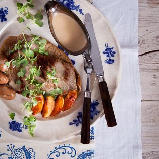 Rezept von Michel Roux: Normannische Kalbsschnitzel