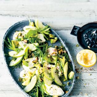 Rezept von Anne-Katrin Weber: Burrata mit grünem Gemüse