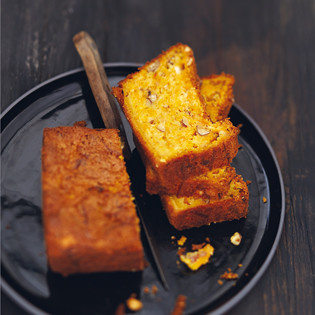 Rezept von Valéry Drouet & Pierre-Louis Viel: Karottenkuchen mit Nüssen und Safran