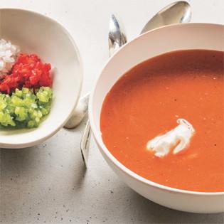 Rezept von Tal Ronnen: Tomaten-Wassermelonen-Gazpacho