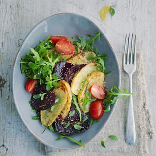 Rezept von Barbara Bonisolli: Lauwarmer Gemüsesalat mit Rauke