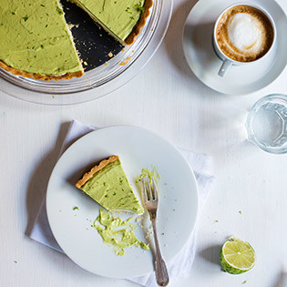 Rezept von Sonja Riker: Limetten-Avocado-Tarte