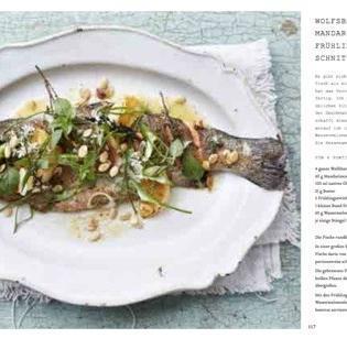 Rezept aus Big Flavour: Wolfsbarsch – Mandarinensalz – Frühlingszwiebel – Schnittlauch