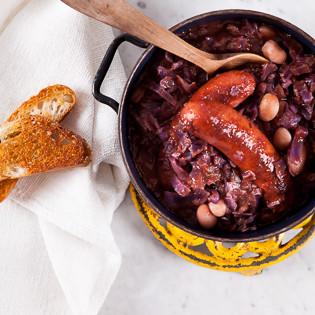 Rezept von Marcella Hazan: Bohnensuppe mit Rotkohl