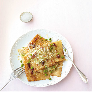 Rezept von Eschi Fiege: Ravioli mit Erbsen-Ziegenkäse-Füllung